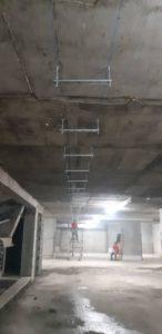 روش نصب ساپورت سقفي توسط پيچ راد و يوچنل پروژه فرشته